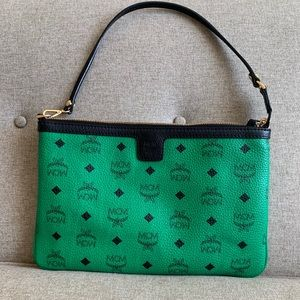 Authentic MCM Vicetos large wristlet